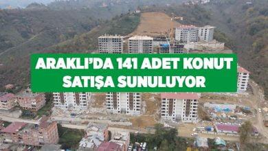 Photo of ARAKLI'DA 141 ADET KONUT SATIŞA SUNULUYOR