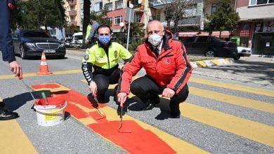 Photo of Araklı'da Yaya Geçitlerine 'Kırmızı Çizgi' Uygulaması