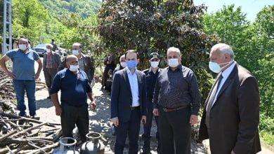 Photo of Başkan Çebi Yangın Bölgesinde